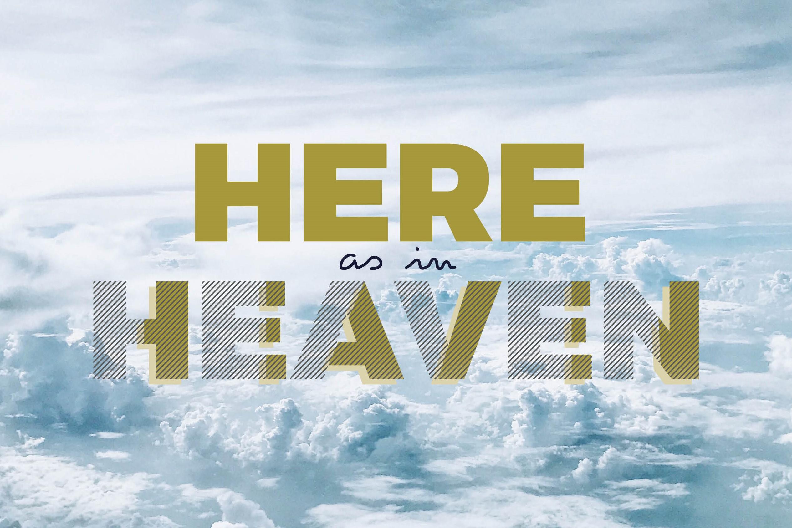 beeldmerk here as in heaven